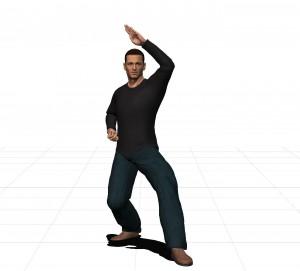 rear stance