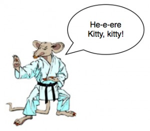 karate rat cartoon